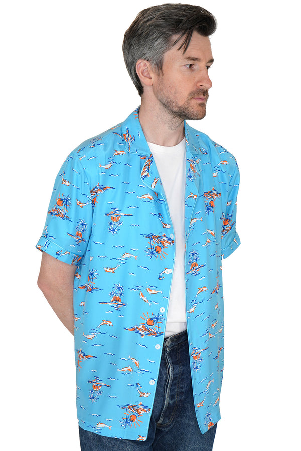 Turquoise Dolphin Ross Shirt