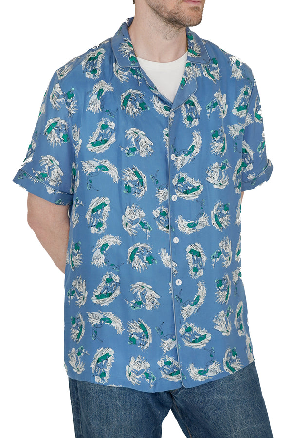 Dark Blue Surfer Ross Shirt