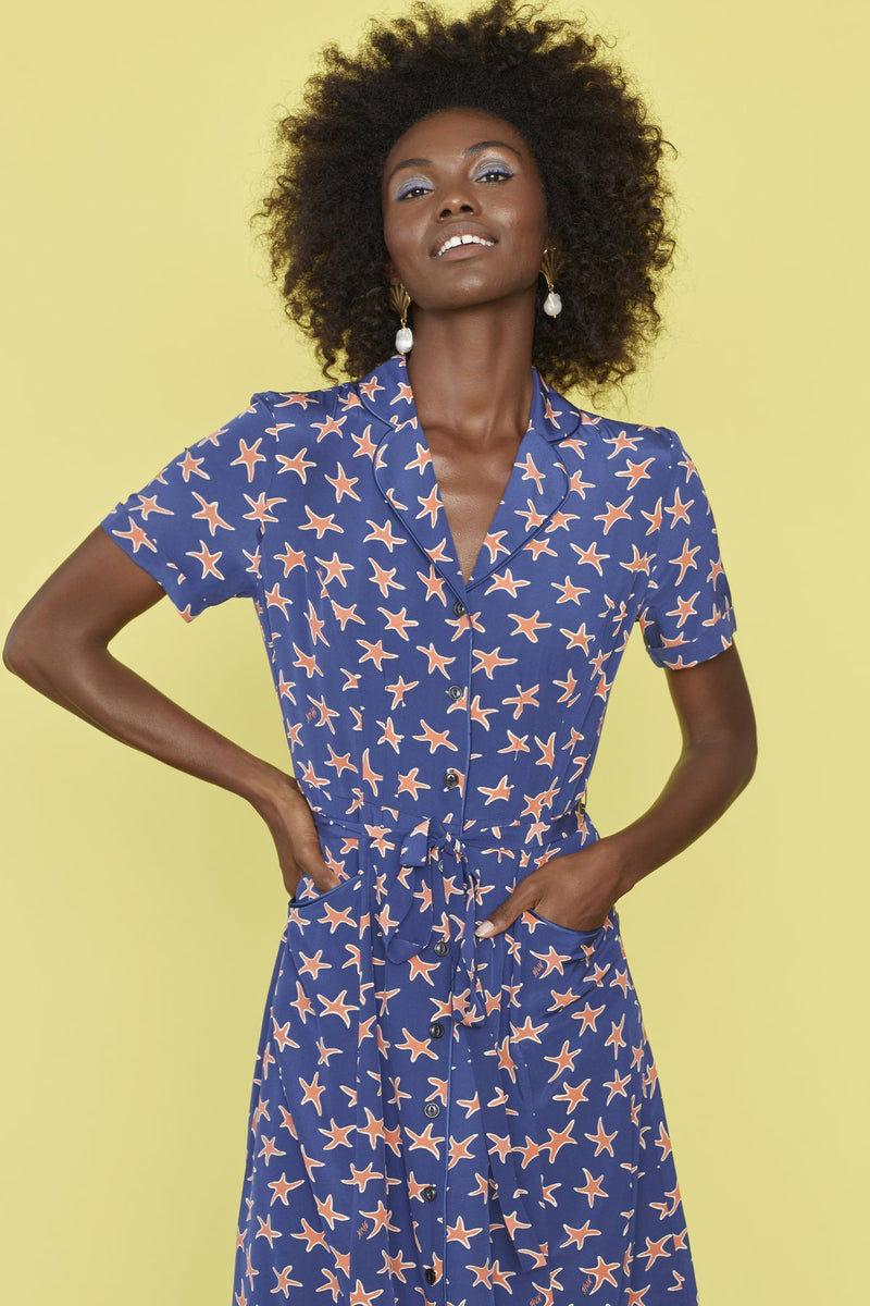 Navy Starfish Maria Dress