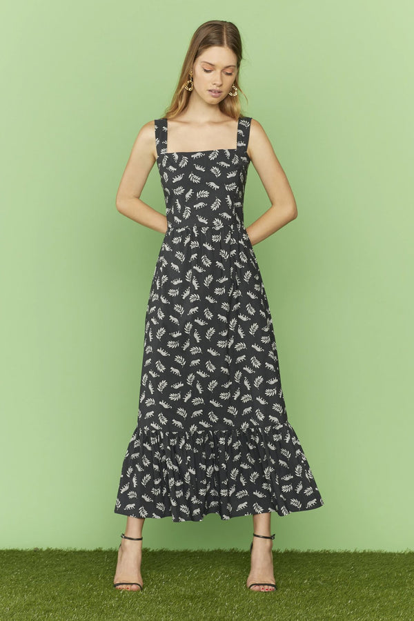 Tarzan Leopard Cotton Olympia Sleeveless Dress