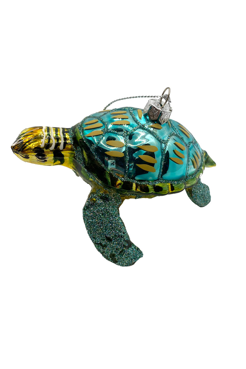 Glitter Turtle Ornament