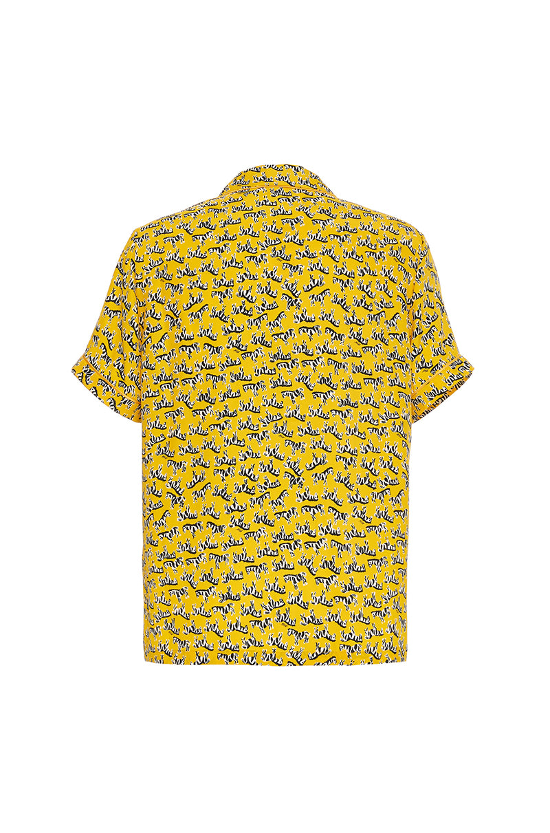 Yellow Zebra Ross Men's Shirt