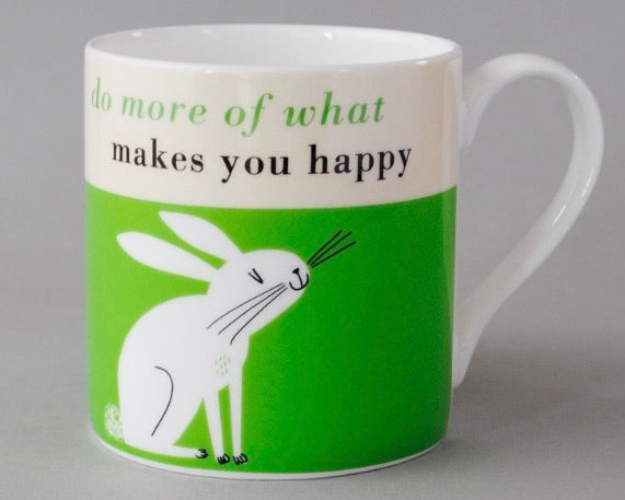 Happy Rabbit Mug Green
