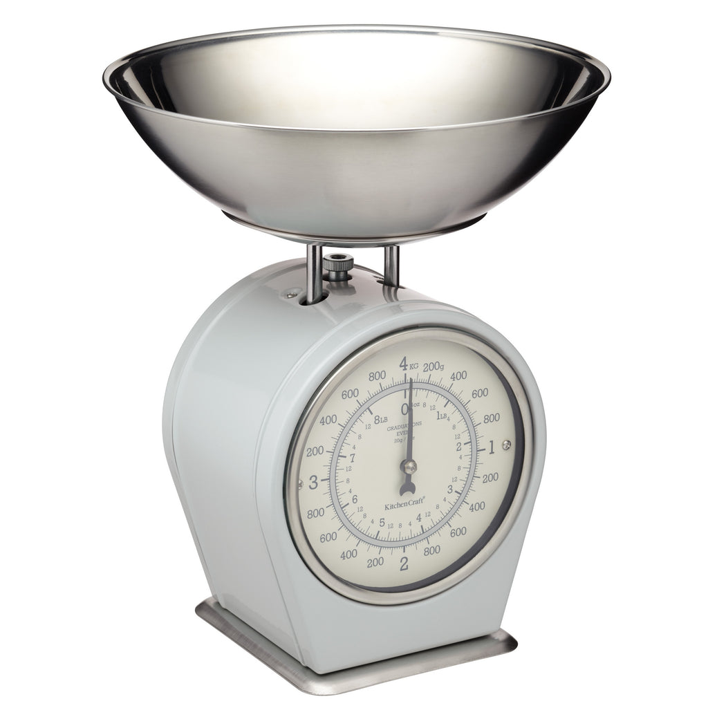 Vintage Style Mechanical Kitchen Scales - French Grey