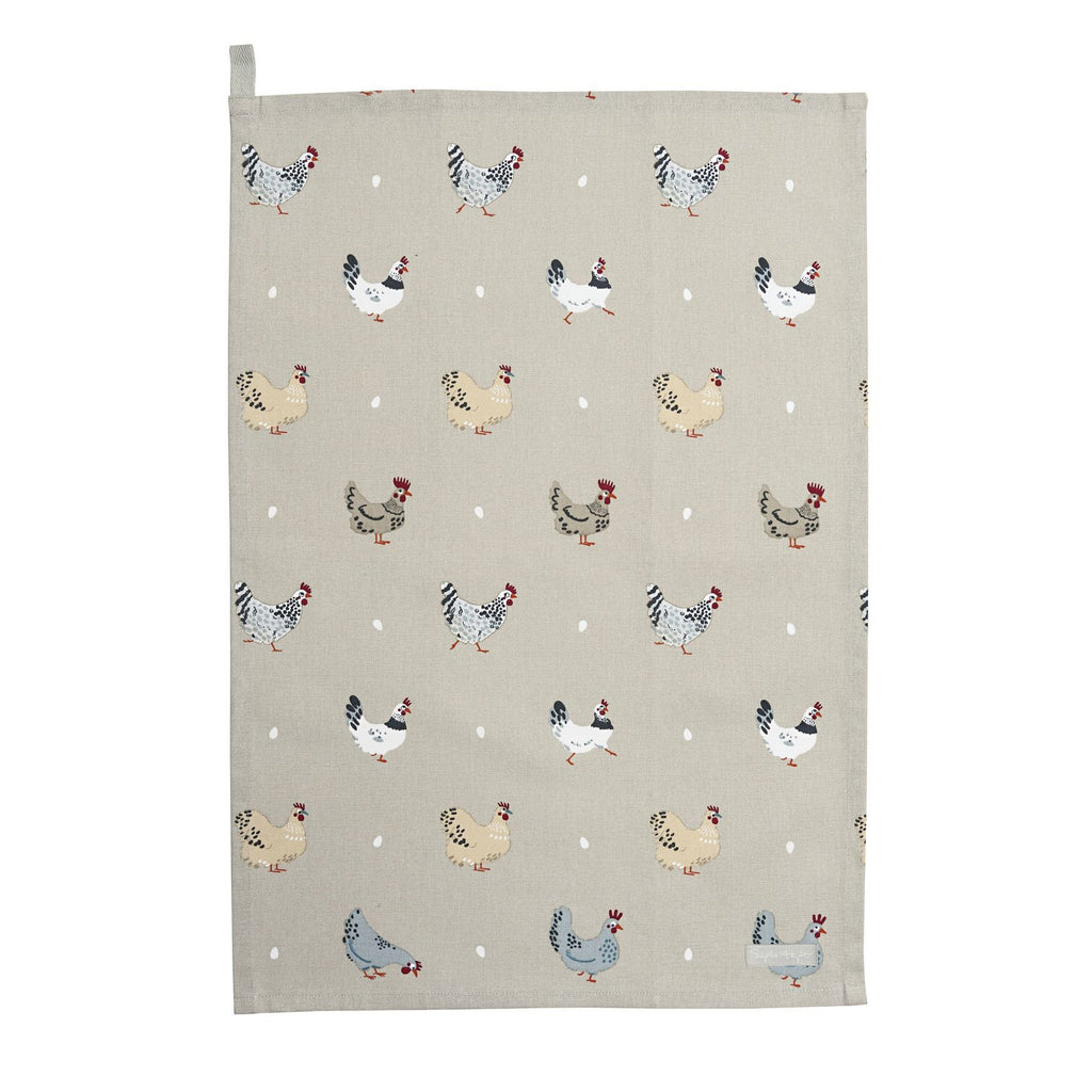 Chickens Tea Towel 'Lay a Little Egg'