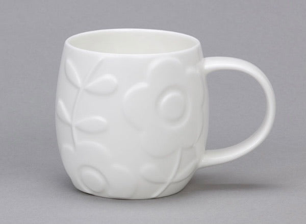 Plum Mug - Bone China Flower
