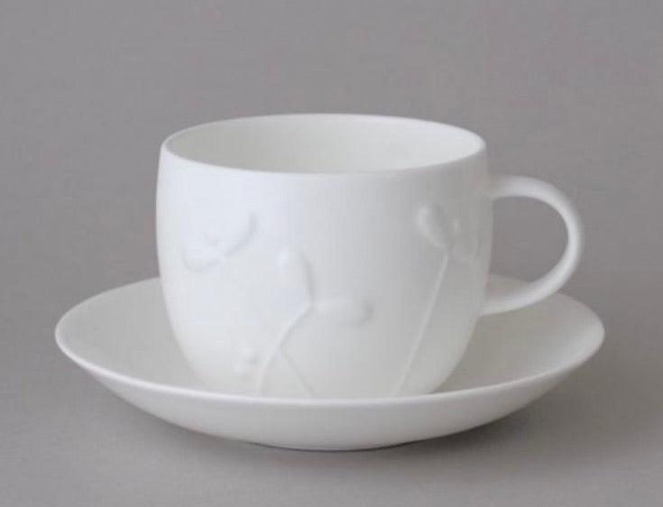 Teacup & Saucer Cress - Bone China