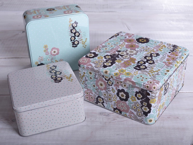 Square Cake Tins - Set Of 3