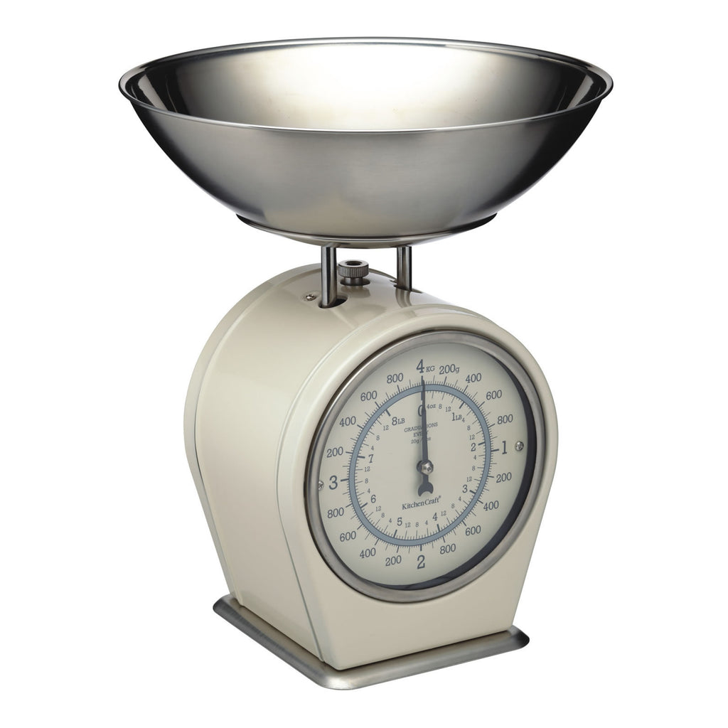 Mechanical Kitchen Scales - Cream