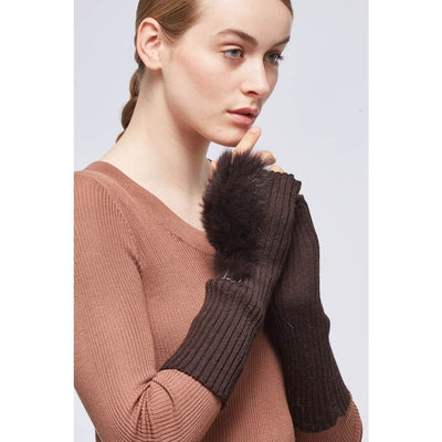 Gloves (of wool with rabbit without fingers)