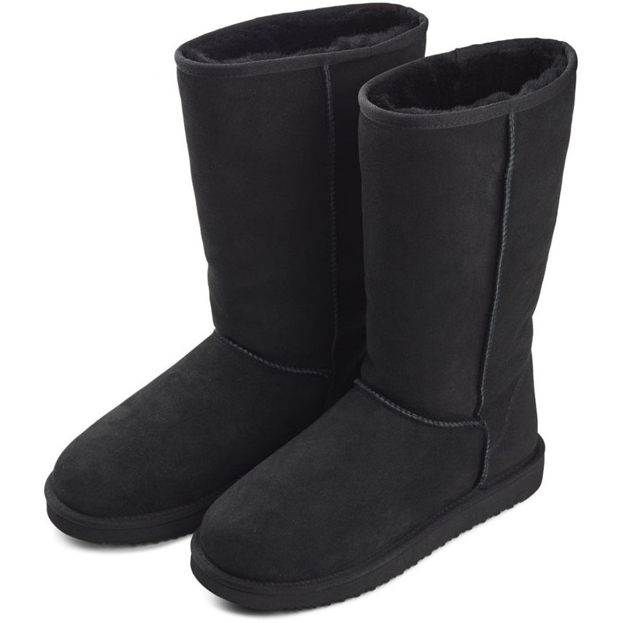 High Boot (of Suede and Lambskin)