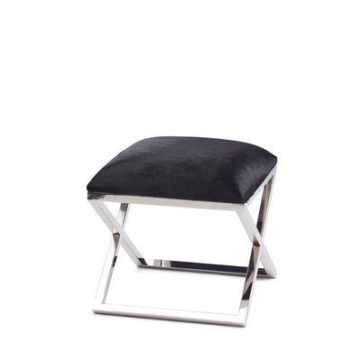 Stool Cow Hide With Stainless Steel Legs