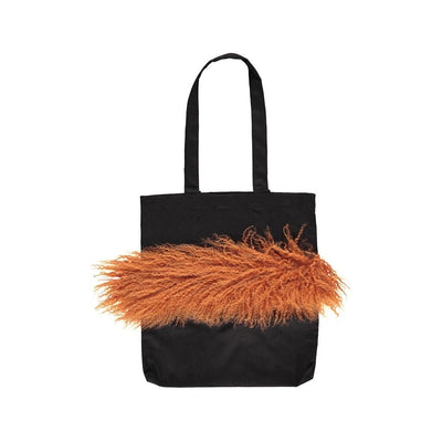Tote bag, Tibetan Sheepskin, 40x45 cm.