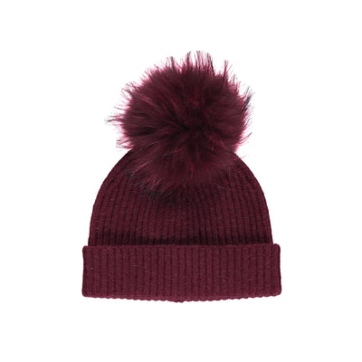 NC Fashion Mathilde Hat (100% Australian Wool) Beanies Burgundy/Burgundy