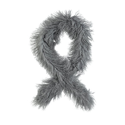 NC Fashion Emilie (Scarf of Tibetan Lamb) Scarfs Steel