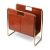 NC Living Magazine Holder of Premium Quality Calf Leather, Size 50x25x50 CM. Magazine Holder