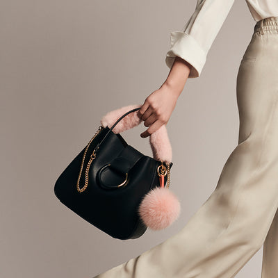NC Fashion Mink Bag Strap with Zipper, Long, 9x30 cm. Bag