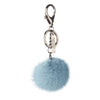 NC Fashion Mink Pom Pom, 6 cm with black metal keyring Keyhangers