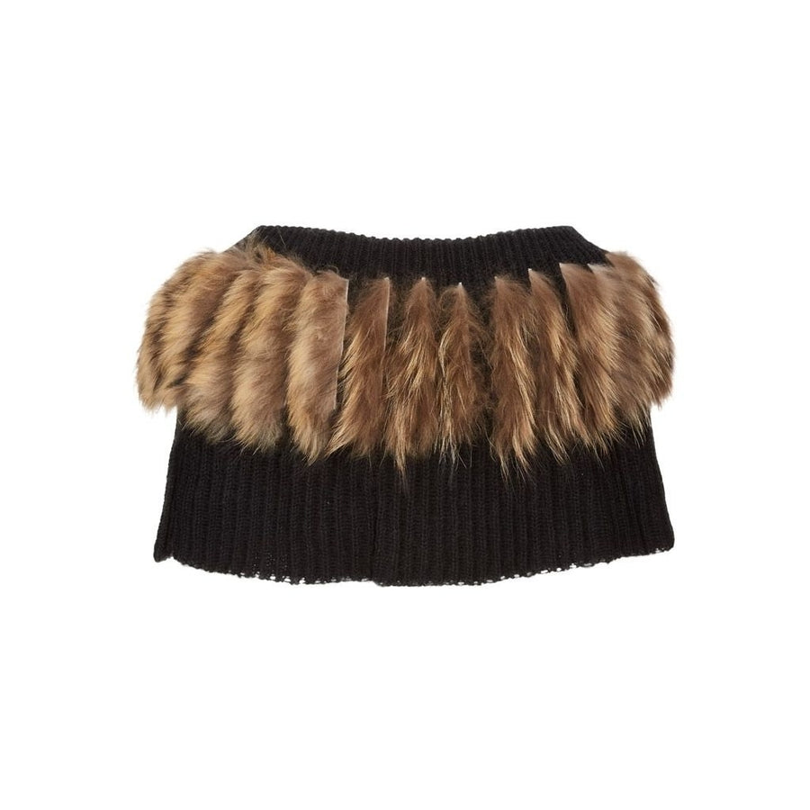 NC Fashion Katja (Collar of Mohair and Racoon) Collars Black/Natural Brown