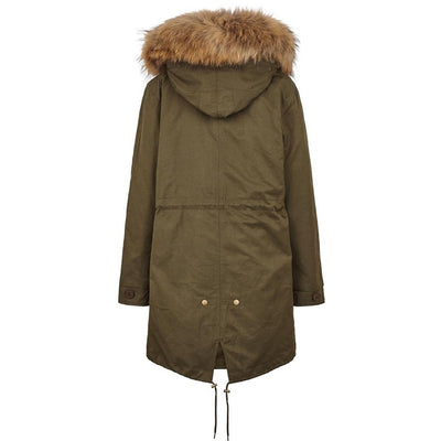NC Fashion Petra Coats Hedge Green/Natural Brown