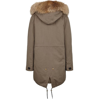 NC Fashion Petra Coats Taupe/Natural Brown