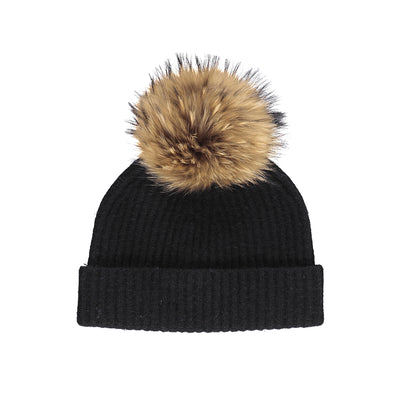 NC Fashion Mathilde Hat (100% Australian Wool) Beanies Black/Natural Dark