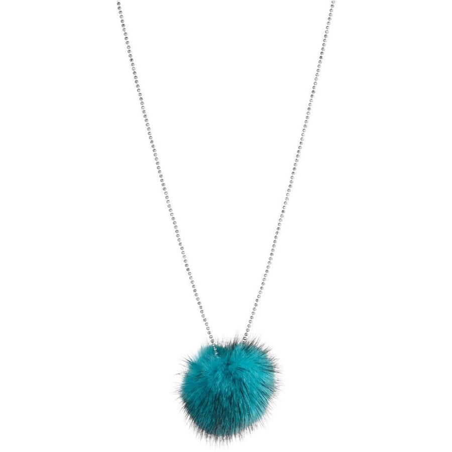 Mink Pom Pom Necklace