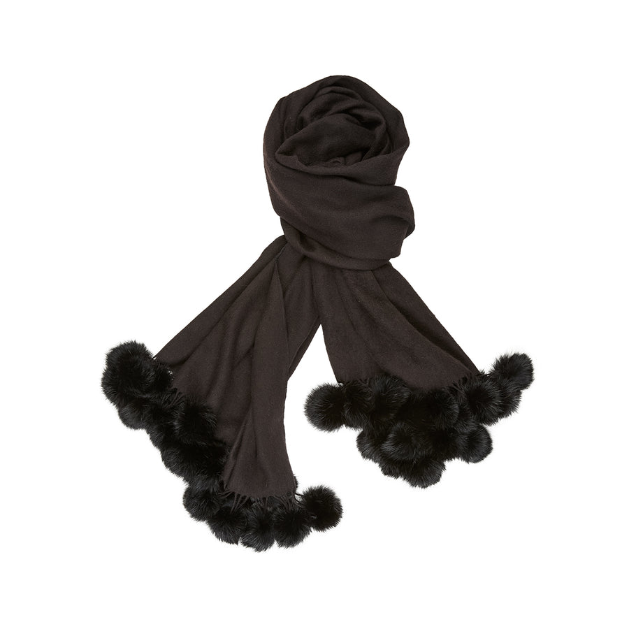 NC Fashion Nelle (Scarf of Wool and Rabbit) Scarfs Black