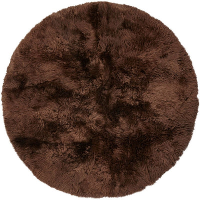 NC Living New Zealand Design rug - LongWool | Round | 250 cm. Design Rugs Chocolate