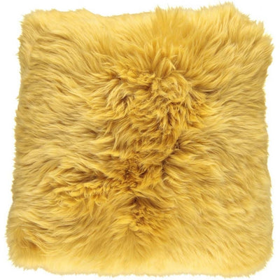 NC Living New Zealand sheepskin Cushion - LongWool | 50x50 cm. Cushions Imperial Yellow