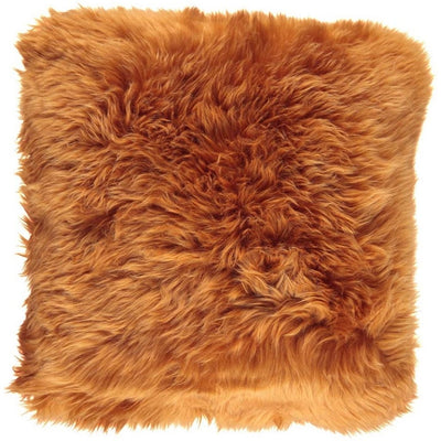 NC Living New Zealand sheepskin Cushion - LongWool | 50x50 cm. Cushions Rust