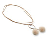 NC Fashion Nicki Mink Necklace Necklace Beige