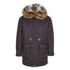 NC Fashion Justin (Parka Jacket With Raccoon/Rabbit) Jackets Black