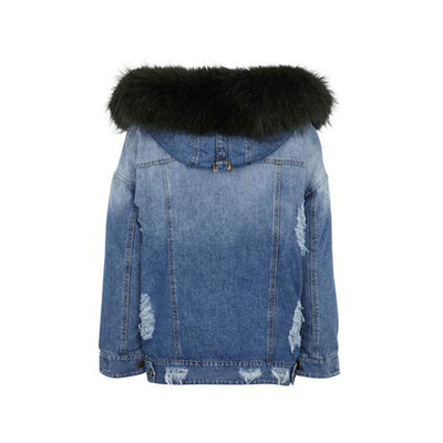 NC Fashion Riley (Jacket of Denim/Raccoon) Jackets