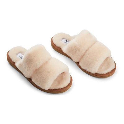 NC Fashion Slippers Straps (of 100% New Zealand Sheepskin) Shoes Nature