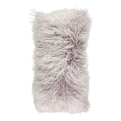 NC Living 'SNOW COLLECTION' - Cushion,  Tibetan Sheepskin, 28x56 cm Cushions Cloud Grey/Snow Top