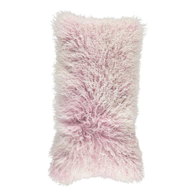 NC Living 'SNOW COLLECTION' - Cushion,  Tibetan Sheepskin, 28x56 cm Cushions Lilac/Snow Top