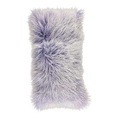 NC Living 'SNOW COLLECTION' - Cushion,  Tibetan Sheepskin, 28x56 cm Cushions Violet Tulip/Snow Top
