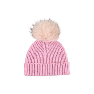 NC Fashion Mathilde Hat (100% Australian Wool) Beanies Pink/Soft Pink