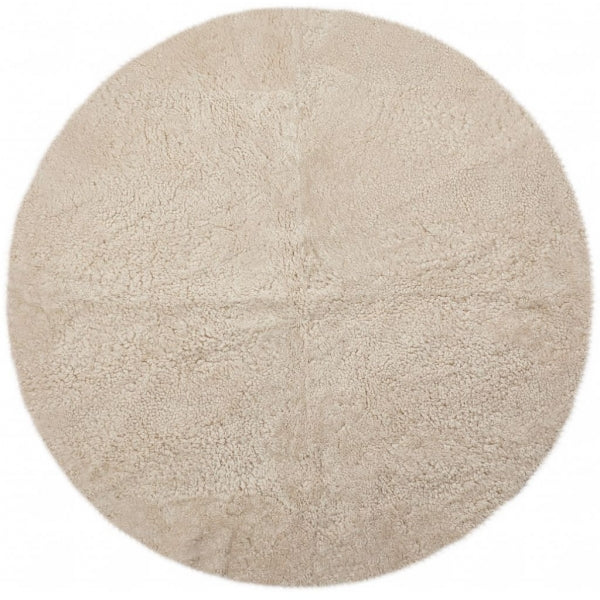 Special Design Rug of Premium Quality Sheepskin, Short-Wool, Round Ø316 cm LIMITED EDITION