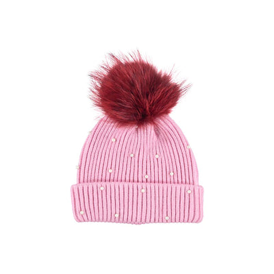 NC Fashion Safina Hat Beanies Pink/Strong Red