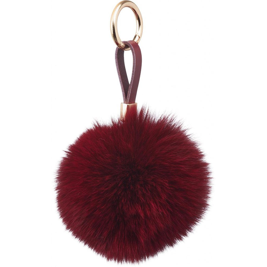 Fox Pom Pom Keyring, 9 cm with Leather Strap. A/W 18-19