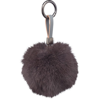 NC Fashion Fox Pom Pom, 9 cm with Leather Strap. A/W 18-19 Keyhangers