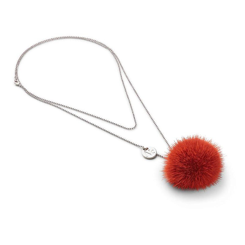 Necklace Pom Pom Mink
