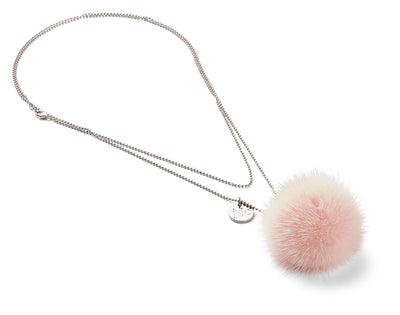 NC Fashion Necklace Pom Pom Mink, A/W 18-19 Necklace Baby Pink