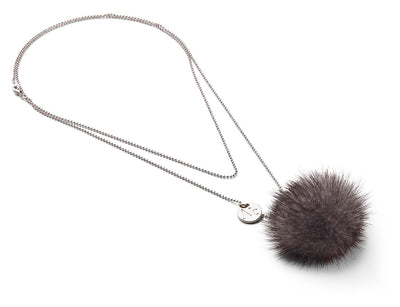 NC Fashion Necklace Pom Pom Mink, A/W 18-19 Necklace Dark Blue Irish