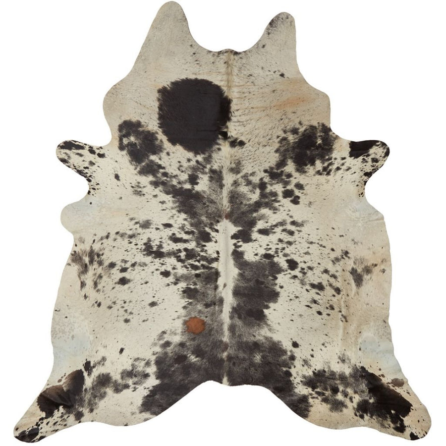 NC Cowhide UNIKA Cow Hide. Size: 3,55 m2. Color: Salt/pepper (brown/white) Hides
