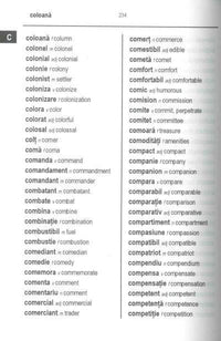 Exam Suitable : English-Romanian & Romanian-English Word-to-Word Dictionary 9780933146914 - sample page