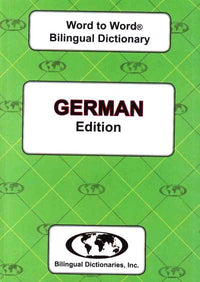 Exam Suitable : English-German & German-English Word-to-Word Dictionary 9780933146938