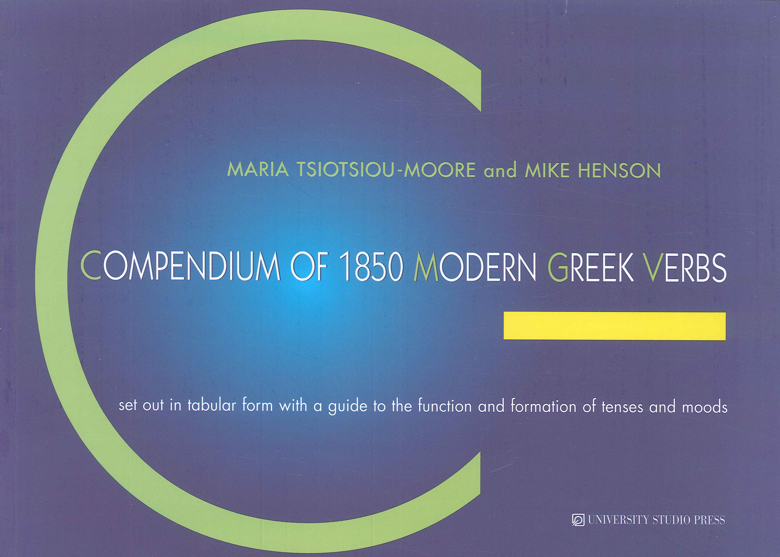 Compendium of 1850 Modern Greek Verbs - 9789601216171